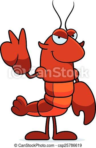 Cartoon Crawfish Peace - csp25786619