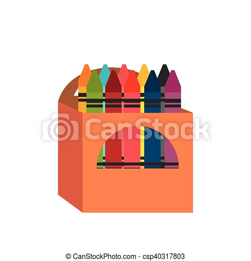 cartoon crayons box design vector - Cartoon Pictures Of Crayons