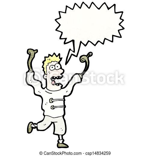 Cartoon mad man in straight jacket.  |Angry Pitbull Drawings Straight Jacket