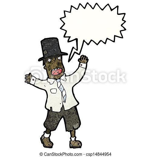 cartoon crazy tramp - csp14844954