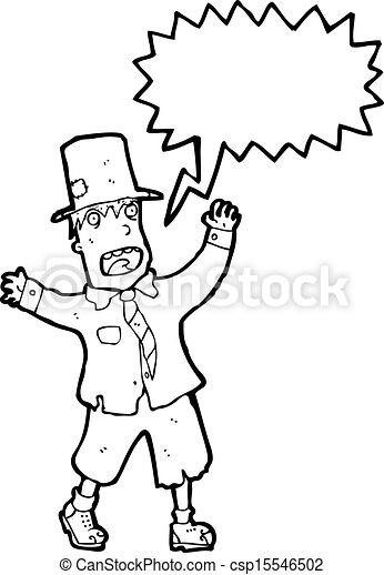 cartoon crazy tramp - csp15546502