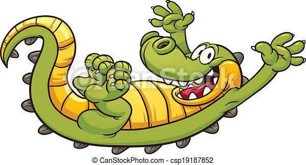 Cartoon crocodile - csp19187852