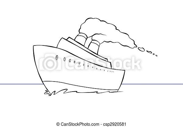 Cartoon Cruise Ship - csp2920581