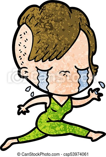 cartoon crying girl running clip art vector search drawings and rh canstockphoto com clip art running home clip art running shoes