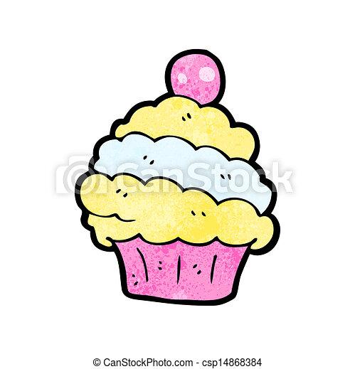 cartoon cup cake - csp14868384