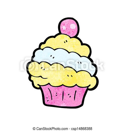 cartoon cup cake - csp14868388