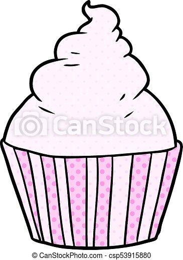 cartoon cup cake - csp53915880