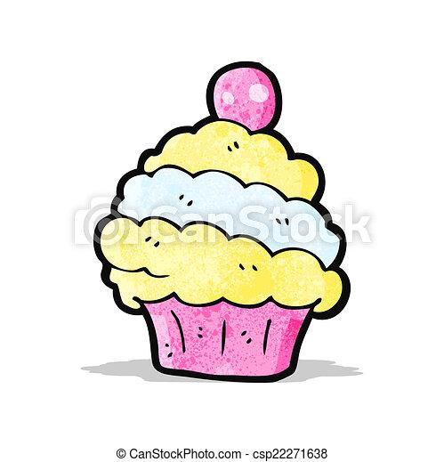 cartoon cup cake - csp22271638