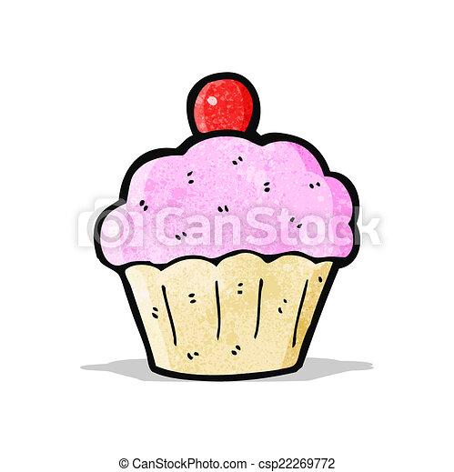 cartoon cup cake - csp22269772