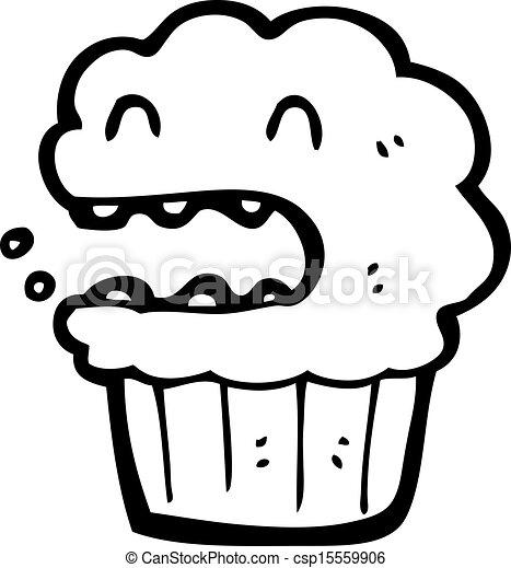 cartoon cup cake - csp15559906