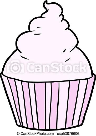 cartoon cup cake - csp53876606