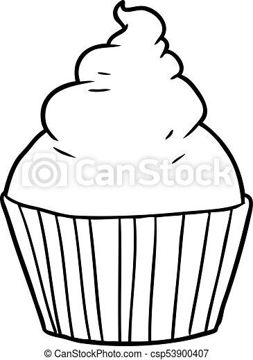 cartoon cup cake - csp53900407
