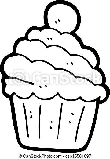 cartoon cupcake - csp15561697