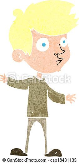 cartoon curious boy - csp18431133