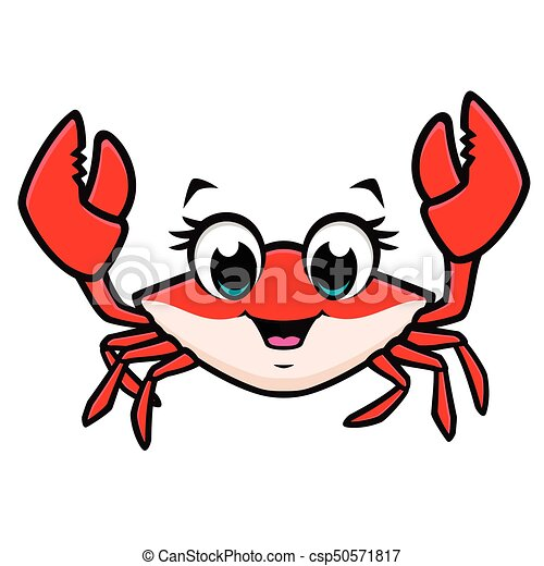 cartoon cute crab vector illustration of a cute crab for vector rh canstockphoto com crab vector png crab vector silhouette