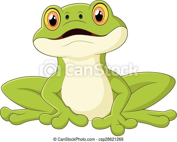 Cartoon cute frog - csp28621269