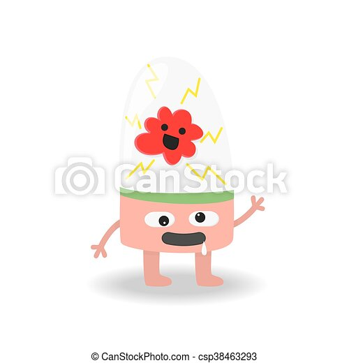 Cartoon cute monster on white background. - csp38463293