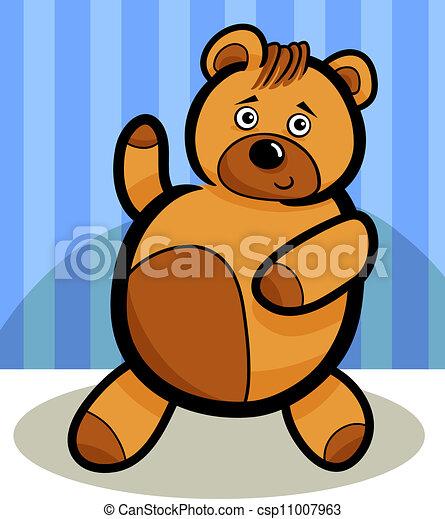 Cartoon Cute Teddy Bear - csp11007963