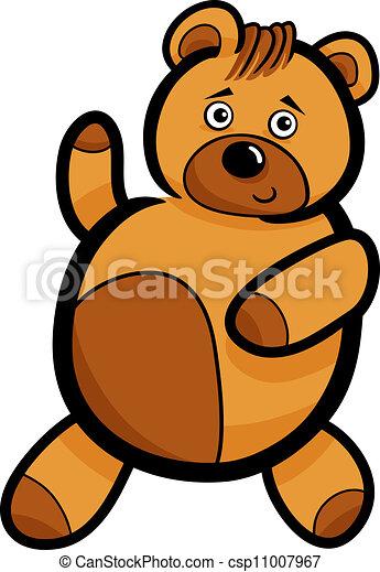 Cartoon Cute Teddy Bear - csp11007967