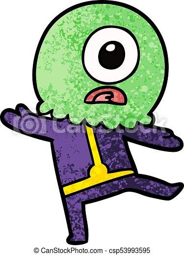 cartoon cyclops alien spaceman rh canstockphoto ca