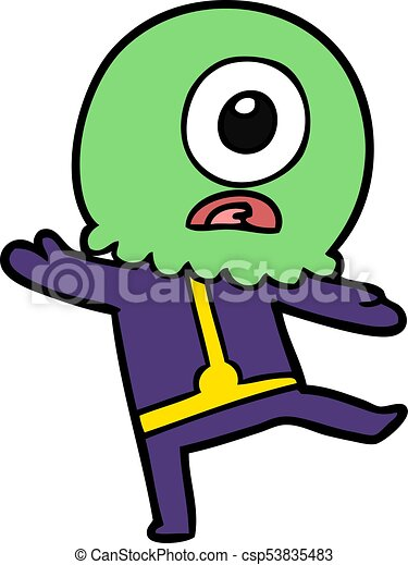 cartoon cyclops alien spaceman vector search clip art rh canstockphoto com