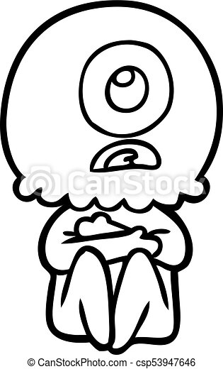 cartoon cyclops alien spaceman eps vector search clip art rh canstockphoto com