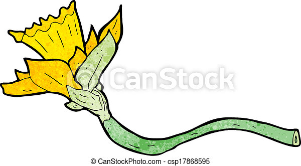 Cartoon Daffodil Flower