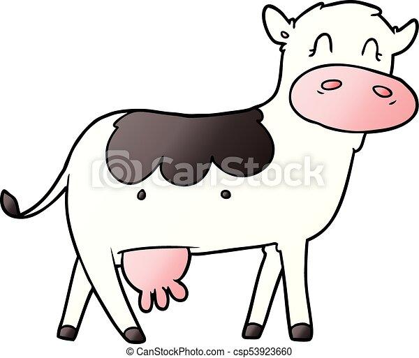 cartoon dairy cow - csp53923660