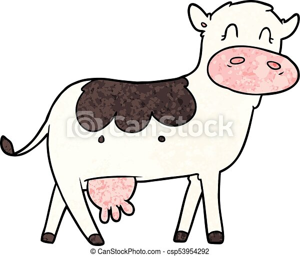 cartoon dairy cow - csp53954292