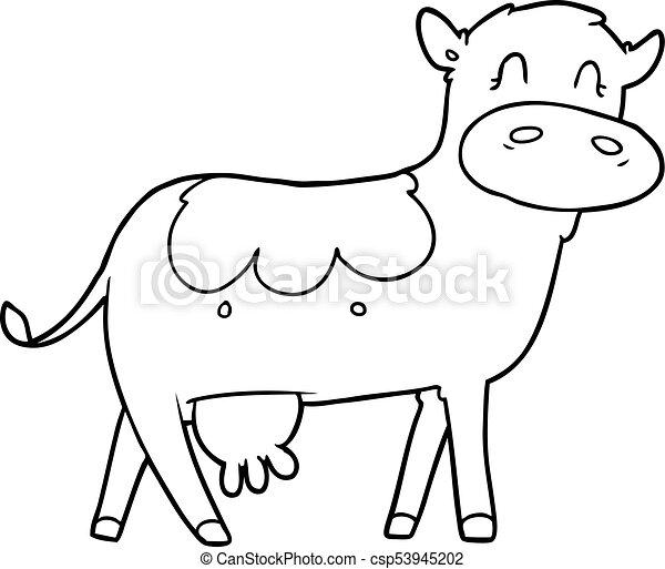 Cartoon Dairy Cow