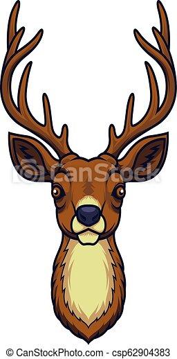 Cartoon deer head mascot - csp62904383