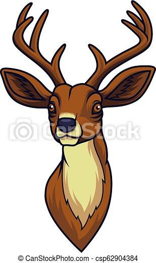 Cartoon deer head mascot - csp62904384