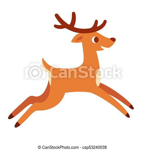 Cartoon Deer Running Cute Cartoon Deer Running Or Jumping Happy