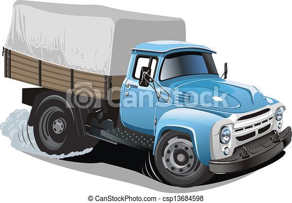 Cartoon delivery / cargo truck - csp13684598