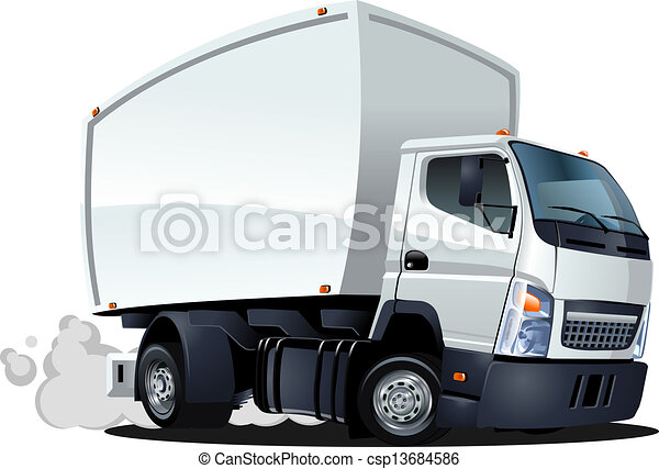 Cartoon delivery / cargo truck - csp13684586