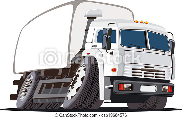 Cartoon delivery / cargo truck - csp13684576