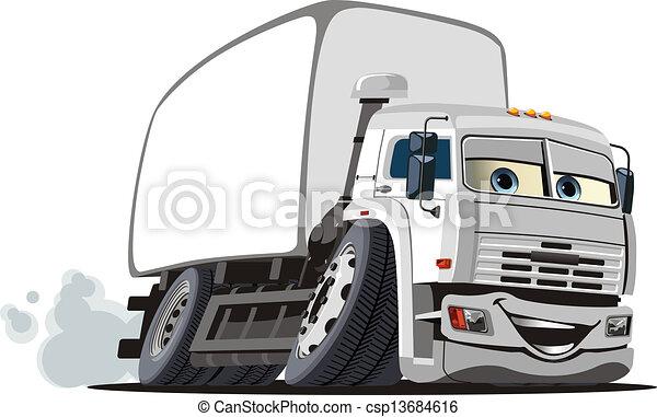 Cartoon delivery / cargo truck - csp13684616