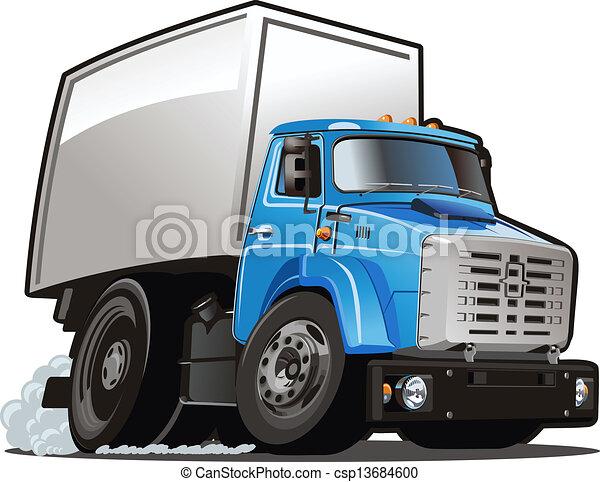 Cartoon delivery / cargo truck - csp13684600