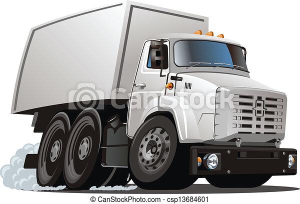 cartoon delivery / cargo truck - csp13684601