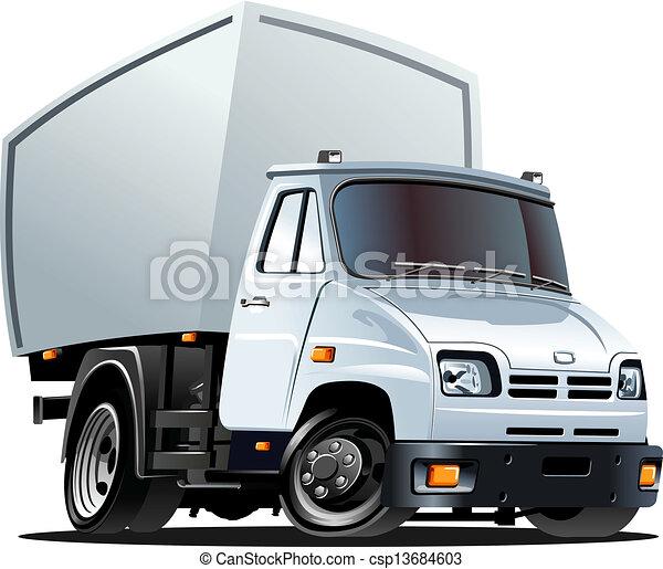 Cartoon delivery / cargo truck - csp13684603
