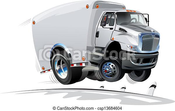 Cartoon delivery / cargo truck - csp13684604