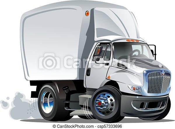 Cartoon delivery or cargo truck - csp57333696