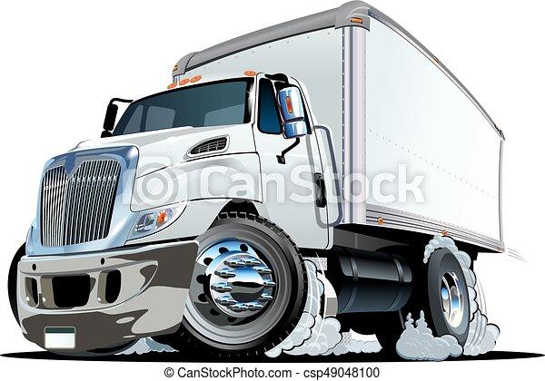 Cartoon delivery or cargo truck - csp49048100
