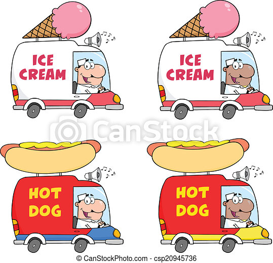 Cartoon Delivery Trucks. Collection - csp20945736