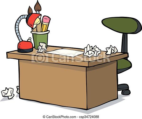 Cartoon designer table - csp34724088