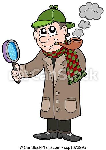 Cartoon detective - csp1673995