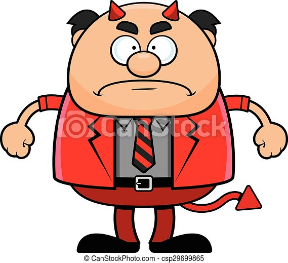 cartoon devil boss grumpy cartoon illustration of a devil clip rh canstockphoto com grumpy bear clipart grumpy clipart free