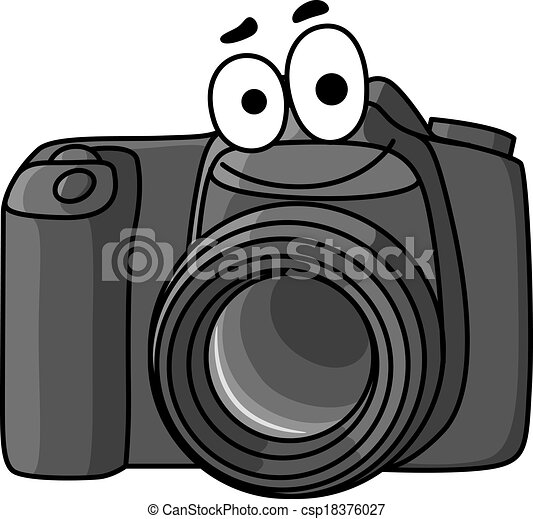 Cartoon digital camera. Cartoon vector illustration of a ...