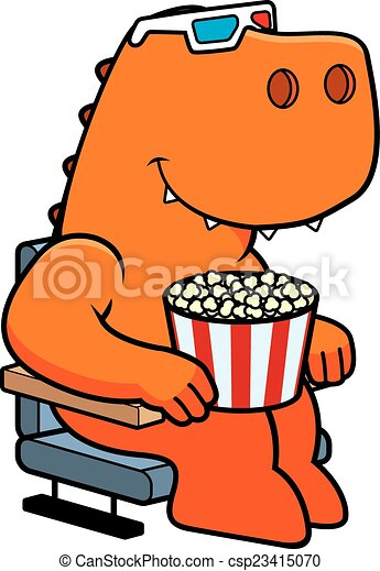 cartoon dinosaur 3d movies a cartoon illustration of a vectors rh canstockphoto com movies clipart free movie clipart black and white
