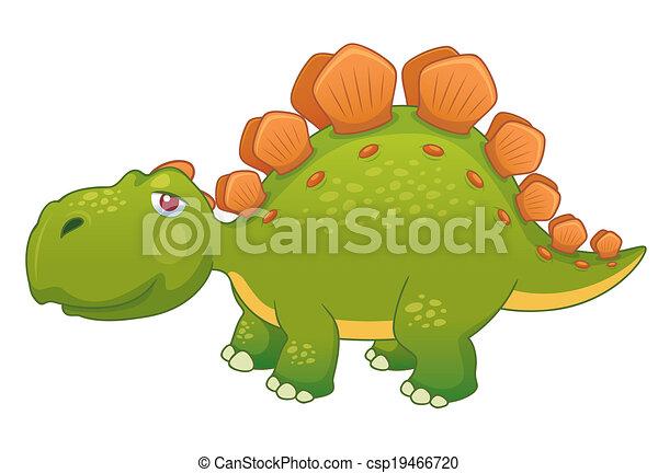 Cartoon dinosaur - csp19466720